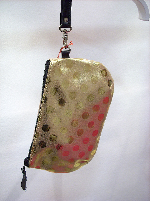 Pochette pois or 2